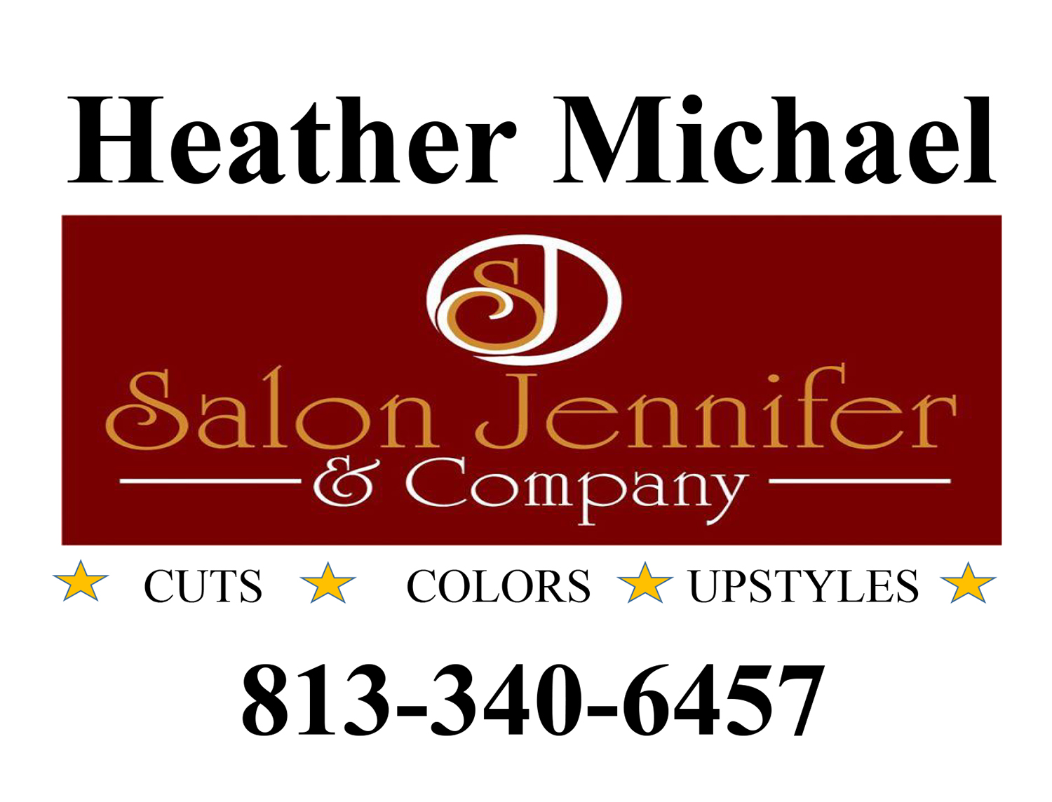 Heather Michael logo with number